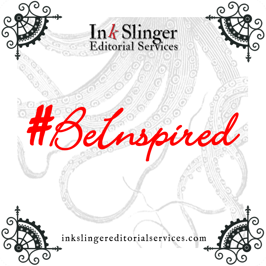 #BeInspired in red script