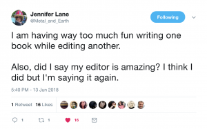 Jennifer Lane Tweets Testimonial again!