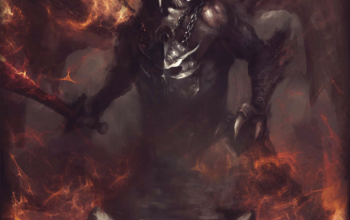 The Pariahs by David Adams cover. A monster with wings surrounded by fire.