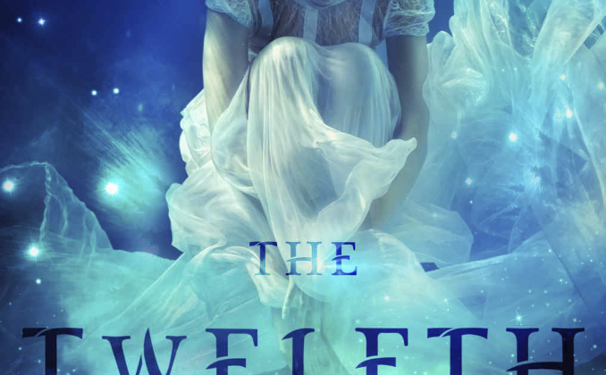 Twelfth Keeper by Belle Malory cover. A girl in a white dress floating in water, holding her knees.